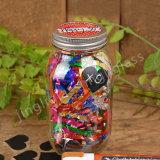 Muratore Glass Jar con Straw e Metal Lid