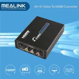 3RCA AV Cvbs Composite & S-Video to HDMI Converter Upscaler