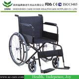 Cromado silla de ruedas de acero para personas de movilidad reducida