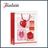 Sac de papier de laminage de Valentine de cadeau lustré fait sur commande du jour