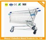 Asiatische Plastikeinkaufen-Laufkatze-Karre mit Baby-Sitz