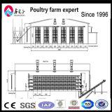 Equipo agrícola de la granja avícola de acero prefabricada del pollo