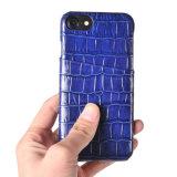 卸売価格はiPhoneのケースのためのCrocdileのグレーンレザーの携帯電話の箱をカスタム設計する