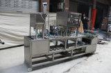 Geleia de plástico automática da cápsula da capa de vedação de enchimento a máquina