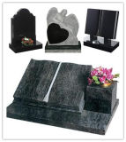 Headstone nero Polished del Russo del granito