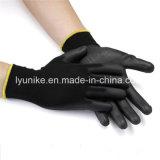Черный провод фиолетового цвета для рук с покрытием черного цвета полиэстер защитные перчатки