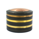 Gold Top Piece를 가진 63mm Zinc Alloy Herb Grinder