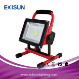 10W/20W/30W/50W Yellow 또는 Black/Red/Green/Blue 1.2-1.6m Tripod Rechargeable Floodlight