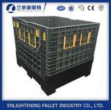 Escaninho plástico de dobramento da pálete do armazenamento da capacidade elevada grande com tampa