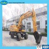 Équipement de construction lourde avec certificat CE Mini-excavatrice à roues