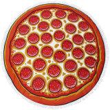 Custom Пицца полиэфирная ткань из микроволокна пляжные полотенца не минимальные