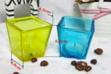 소형 정연한 살포 색깔 유리제 촛대