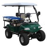 Mini automobile elettrica dell'ambulanza nella corte della sosta