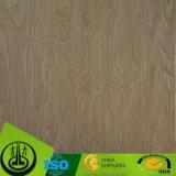 Papel de madera de lujo del grano, papel decorativo para el suelo, MDF, HPL