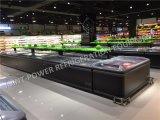Congelador congelado supermercado do console do indicador do marisco