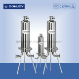 Microfiltro sanitário de aço inoxidável com válvula de amostra