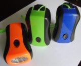 Fare funzionare a mano la torcia della lampada del Portable 6 LED con la torcia elettrica rossa di emergenza della dinamo del laser