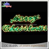 Décoration décorative de drapeau de Joyeux Noël du centre commercial DEL