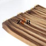 """毛の拡張膚触りがよくまっすぐなバージンのRemyの毛の4 """" X0.8 """"テープ"""