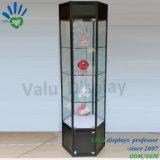 Vetrina popolare della visualizzazione della finestra, Governo di vetro chiudibile a chiave con il riflettore per il boutique del ricordo