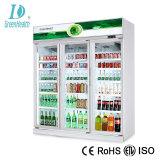 Современный дизайн 5 стеклянные двери напитков охладитель дисплея
