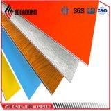 Panneau décoratif en aluminium argenté du projet de construction de prix concurrentiel 4mm