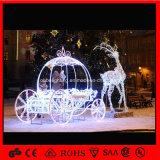 Populäres Weihnachtsren des Feiertags-2017 mit Pferdeschlitten-Motiv-Licht