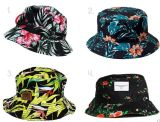 Populaire Vente chaude Motif floral chapeaux de pêcheur de godet