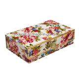 Boîtes en carton d'impression de modèle de fleur pour l'empaquetage de roses