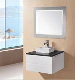 Vanità lucida della stanza da bagno del MDF con il bacino di arte e la fine morbida (LEXI-900)