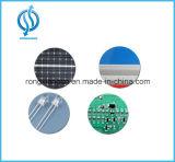 Poste de amarração solar do diodo emissor de luz com placa do sinal de segurança