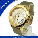 高品質の腕時計の水晶機械骨組腕時計