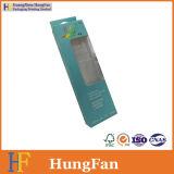 Изготовленный на заказ коробка пакета бумаги подарка окна PVC логоса для одежд