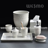 Juego de baño de porcelana en relieve (WBC0579A)