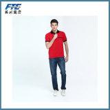 Camisa de polo personalizada do logotipo no algodão/poliéster