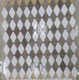 Het uitstekende kwaliteit Geslepen Witte Marmer Opgepoetste Mozaïek van het Hout