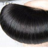 100%の人間の毛髪の束9Aのブラジルの直毛の織り方10-30インチの自然で黒いバージンのRemyの毛の織り方(TFH18)