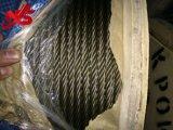 Ungalvanized 철강선 밧줄 6X29fi+Iwrc 제조자