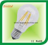 A60- 4W 6W - ampola do filamento do diodo emissor de luz de RoHS do CE