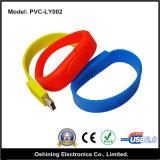 Azionamento di gomma molle del USB del braccialetto (PVC-LY002)