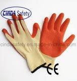 Перчатки безопасности конструкции Crinkle латекса работая