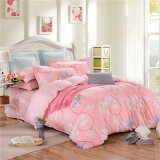 Preiswertes gedrucktes Baumwollbettwäscheduvet-Deckel-Bett-Blatt-Set