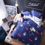 유럽식 면 침대 시트 담요 덮개 세트를 판매하는 호텔