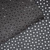 Cuero artificial de perforación de la ropa de la PU el elástico con la perforación de la flor