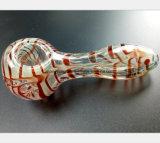 Tuyau d'eau en verre rayé rouge pour tube de filtre