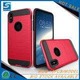 Shell van de Cel van PC TPU van de Gift van Kerstmis het Hybride Geval van de Telefoon van de Rugdekking voor iPhone X