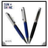 Logo personnalisé stylo à bille en caoutchouc métal promotionnel stylo