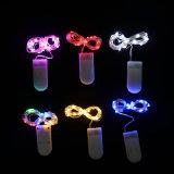 Decoração de férias de Ano Novo de caracteres LED a pilhas de luzes LED Mini Luzes de String