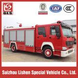Sinotruk Fire Fighting Truck 4X2 Drive Water Tank 8000L