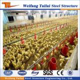 Granja de pollo prefabricada de las aves de corral de la estructura de acero de Commerical del diseño profesional
